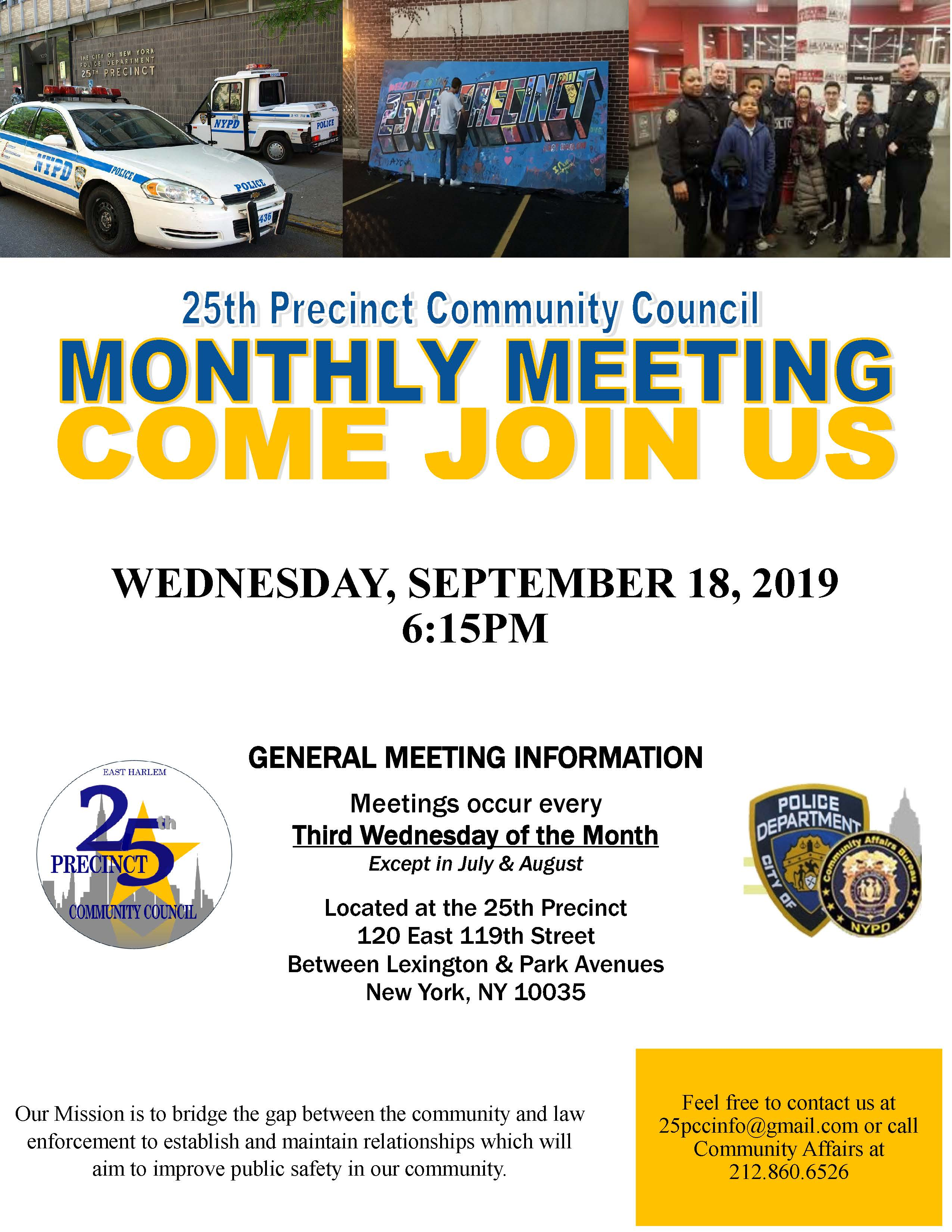 2019 Community Council Flyer - September 2019
