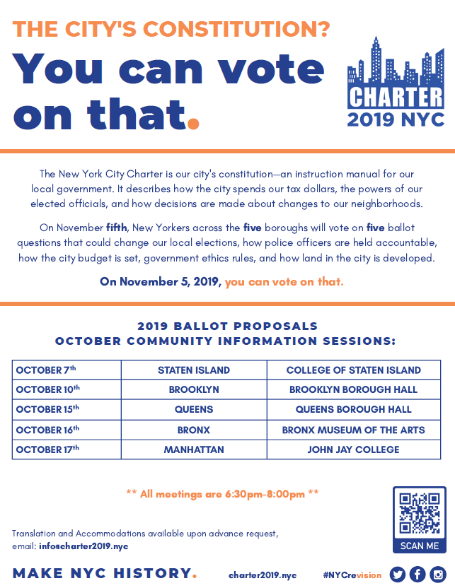 city charter info session october