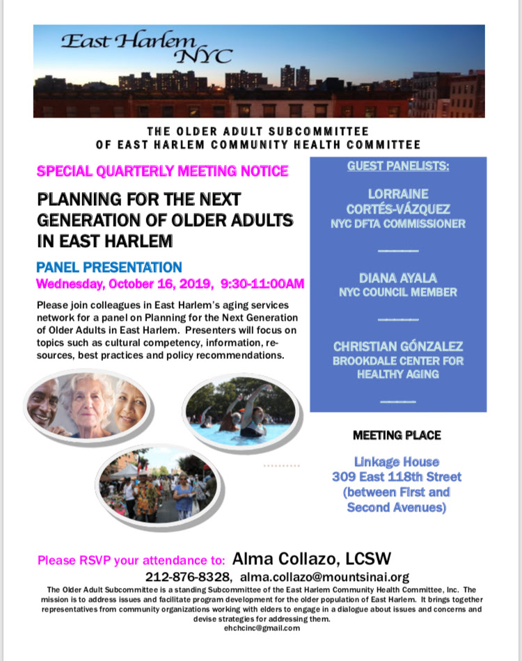 Next Generation of Older Adults in East Harlem